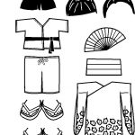 Japanese Friends clothing outlines