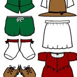 Pilgrim Paper Doll Friends in color