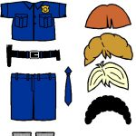 Police Paper Doll Friends