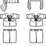 Russian Girl Guide uniform outlines