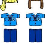 Russian Girl Guide Paper Doll Friends