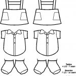 South African Paper Doll Friends| Uniform outlines