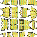 Summer Paper Doll Friends clothes in color