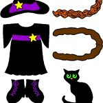 Colored Witch Clothes for Paper Doll Friends