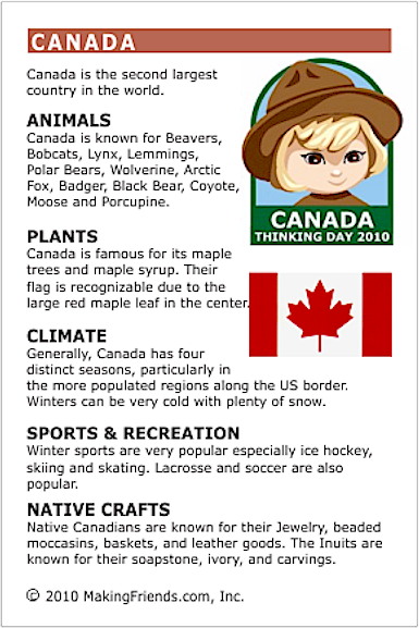 Facts About Canada Makingfriendsmakingfriends