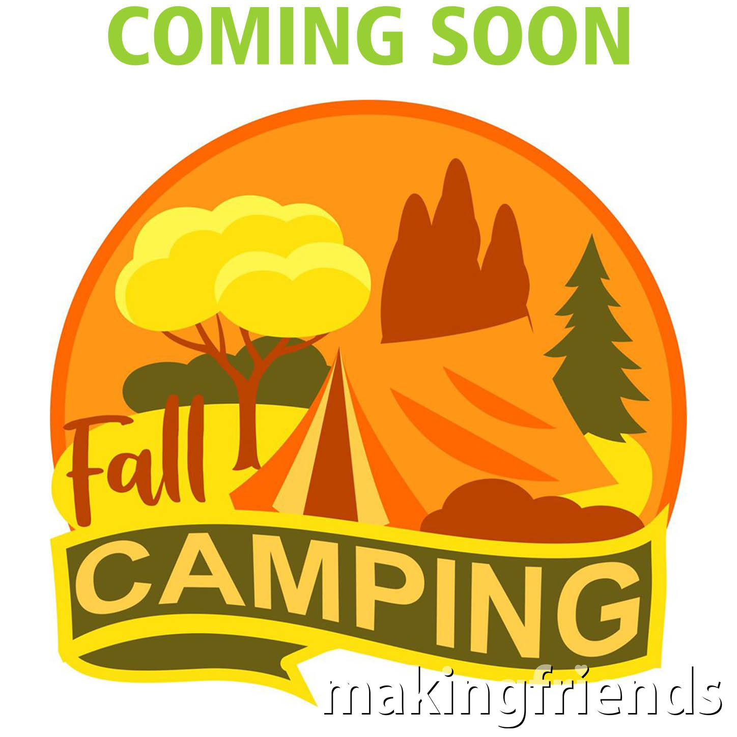 Fall is a wonderful season to take your scout troop camping! Add this fall camping patch from MakingFriends®.com to your collection after this year's trip. #fallcamping #camping #fall #autumn #camp #gscamp #makingfriends #mf #scoutcamping #scouts #girlscouts #trips via @gsleader411