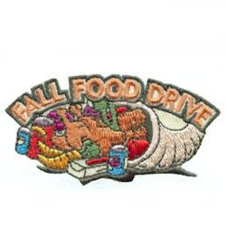 Fall Food Drive Fun Patch