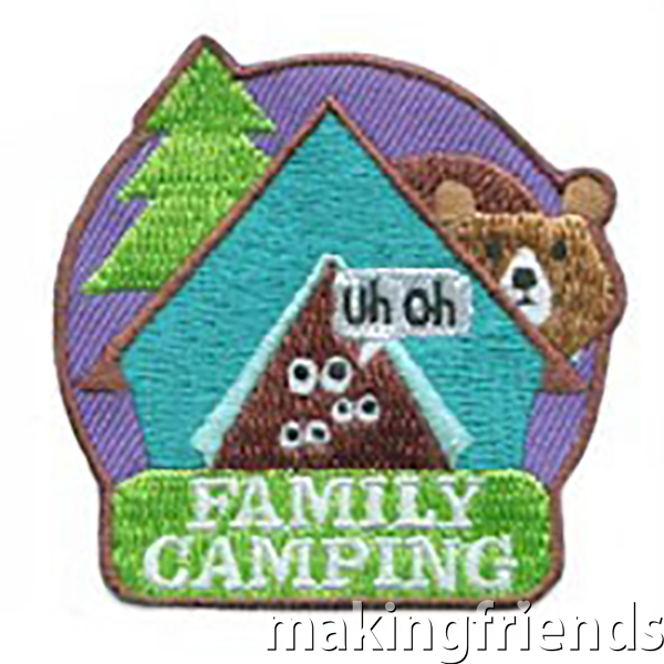 Family camping is especially good for new campers but everyone has fun the whole family is included. #makingfriends #familycamping #camping #family #funpatch via @gsleader411