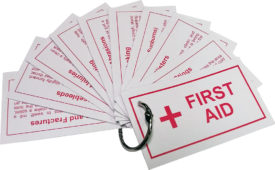 Girl Scout First Aid Cards