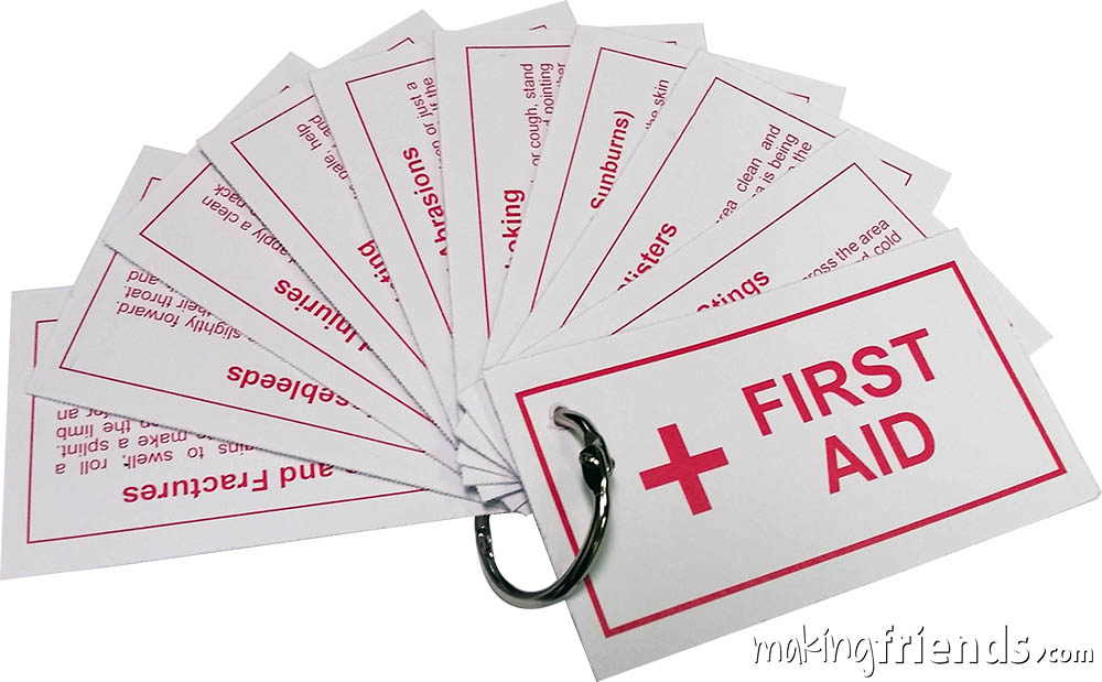 First Aid Booklet Girl Scout Friendship SWAP Kit via @gsleader411