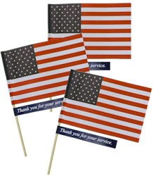 Memorial and Veteran's Day Flag Kit. Your girls can march in the Memorial or Veteran's Day parade with their flags and give them to Veterans along the parade route. They can also be presented during trip to the VA hospital or sent in to use as tray favors. Available at MakingFriends®.com. #makingfriends #girlscouts #scouts #veteransday #memorialday via @gsleader411
