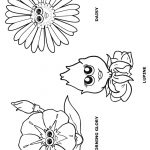 Flower Friends coloring Page 1