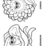 Flower Friends Coloring Page 3