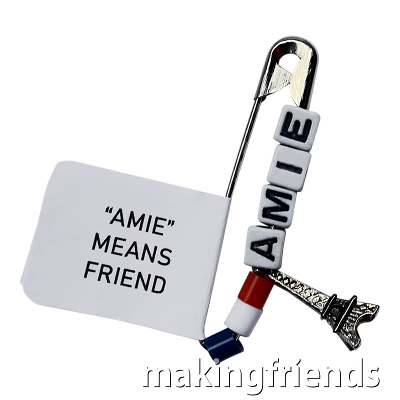 France Amie Friendship Swap Kit. Did you know that AMIE means Friend in French? Make these Eiffel Tower swaps if you are representing France for Girl Scout World Thinking Day* or International celebration. Kit makes 30 swaps and is available at MakingFriends.com via @gsleader411