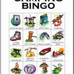 Camping Bingo Card 12