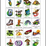 Camping Bingo Calling Card