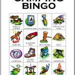 Camping Bingo Card 2