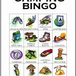 Camping Bingo Card 9