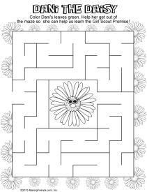 daisy petals maze pages