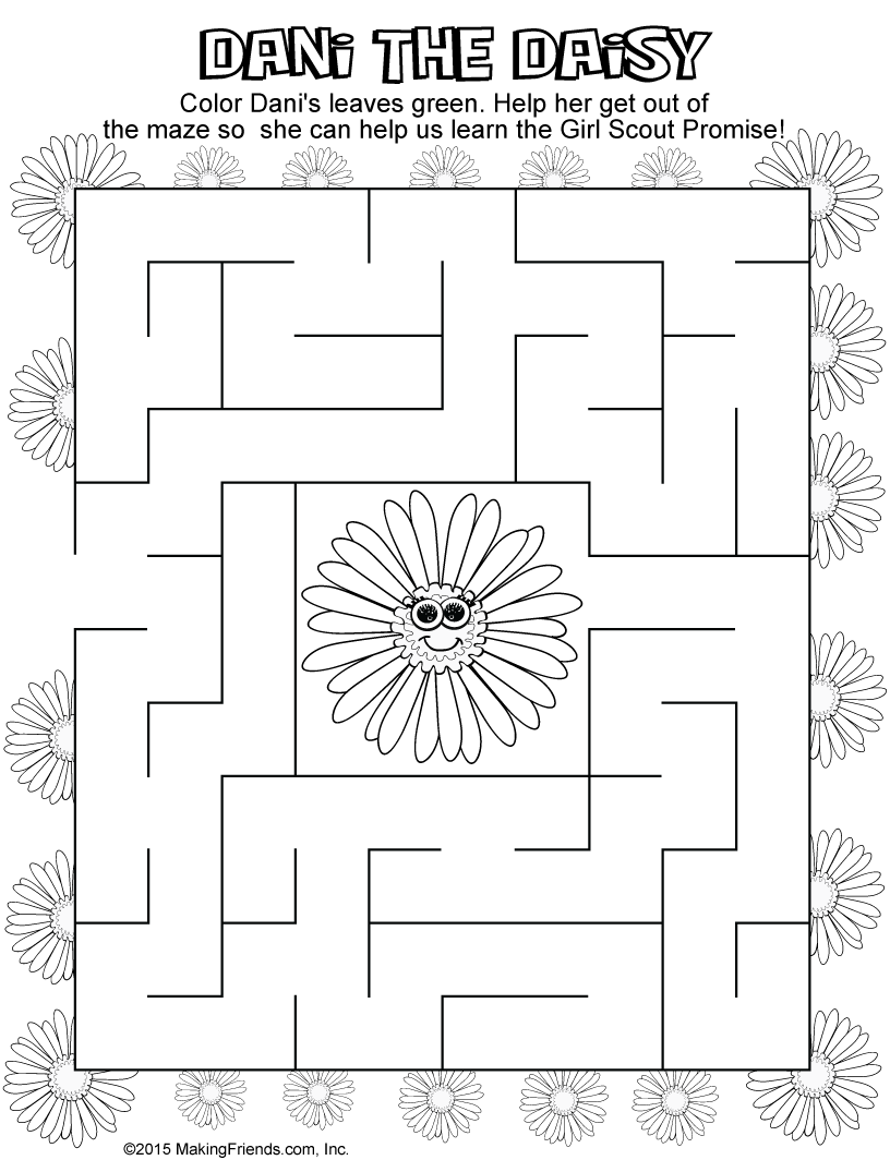 Girl Scout Daisy Blue Promise Center Maze ...