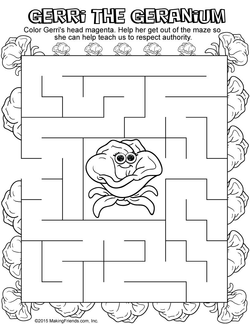 Magenta Petal Maze Makingfriendsmakingfriends