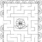 Daisy Purple Petal Maze