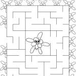 Daisy Violet Petal Maze