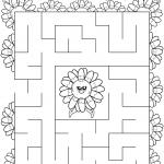 Daisy Yellow Petal Maze
