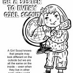 Girl Scout Daisy Violet Petal, Be a Sister to Every Girl Scout Coloring Page