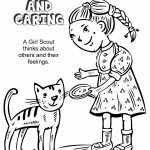 Girl Scout Daisy Spring Green Petal, Considerate and Caring Coloring Page