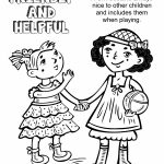Girl Scout Law, Friendly and Helpful Coloring Page