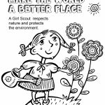 Girl Scout Law, Make the World a Better Place Coloring Page
