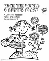 girl scout coloring pages pdf   Girl Scout Law, Make the World a Better Place Coloring ...