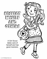 girl scout coloring pages pdf   Girl Scout Law, Respect Myself and Others Coloring Page ...