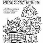 Girl Scout Law, Responsible for What I Say and Do Coloring Page