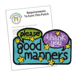 Girl Scout Good Manners Patch Program