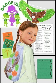 Brownie Girl Scout Hiking Badge