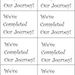Journey Sign Printable