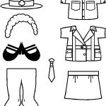 Juliette Paper Doll costume outline