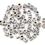 Square Letter Beads
