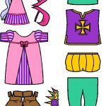 Medieval Paper Doll Friends