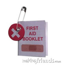 Mini First Aid Booklet Friendship Swap Kit via @gsleader411