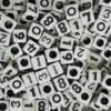 Black and White Square Number Beads