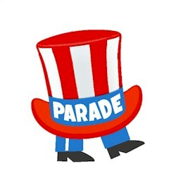 Parade Patch from MakingFriends®.com. Memorial Day, Fourth of July, Veteran's Day or any occasion that calls for a parade is even more fun when you add the Parade patch as part of the event. #makingfriends #scoutpatches #girlscouts #scouts #juliettescouts #memorialday #veteransday via @gsleader411