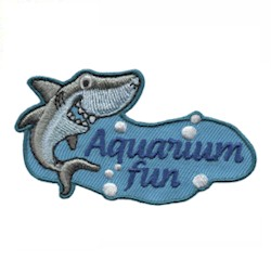 Aquarium Girl Scout Fun Patch