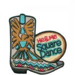 He & Me Square Dance Patch