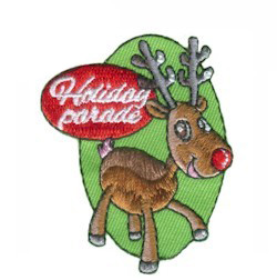 Holiday Parade Patch -- Reindeer from MakingFriends®.com.  Who doesn't love a parade? And a holiday parade is fun for everyone! Enjoy the event with your troop and hand out patches they will love to add to their collection. via @gsleader411