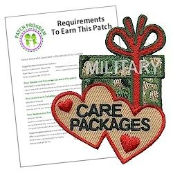 Military Care Packages Patch Program