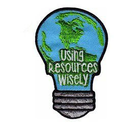 Using Resources Wisely Girl Scout Fun Patch