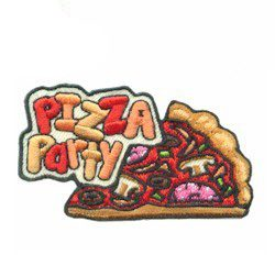 "Celebration Food Fast Food IRON ON EMBROIDERED PATCH /""PIZZA PARTY/"""